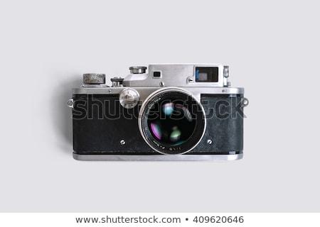 vintage · caméra · isolé · blanche · film - photo stock © milisavboskovic