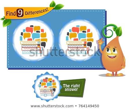 Linguagem jogo diferenças crianças adultos tarefa Foto stock © Olena