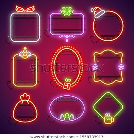 Vidám karácsony ikon gyűjtemény forma sablon terv Stock fotó © lucia_fox