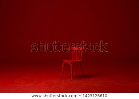 interieur · slaapkamer · Rood · moderne · witte · hout - stockfoto © ssuaphoto