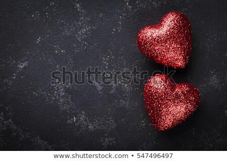 Güzel iki kalpler sevgililer günü kalp Stok fotoğraf © SArts