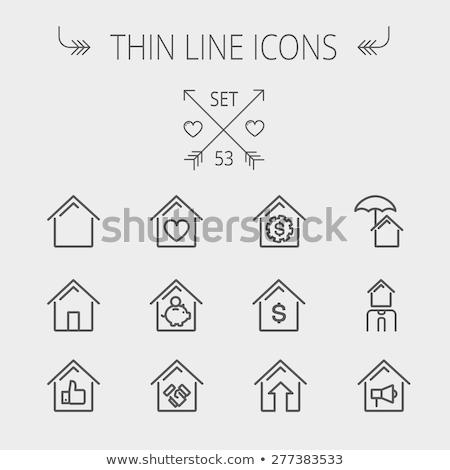 住宅ローン · ブローカー · 行 · アイコン · ベクトル · 孤立した - ストックフォト © rastudio