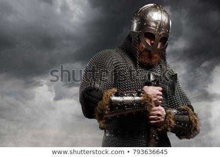 викинг воин шлема иллюстрация гладиатор Сток-фото © Krisdog