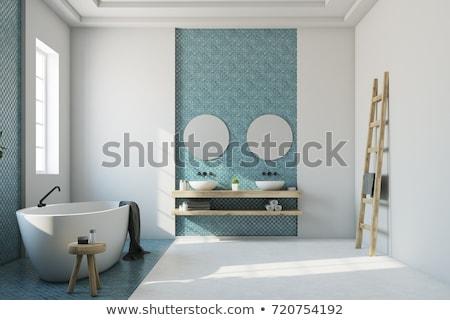Bathroom interior with bath. Stock photo © biv
