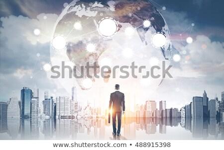 we are hiring international globe sign concept Stock photo © alexmillos
