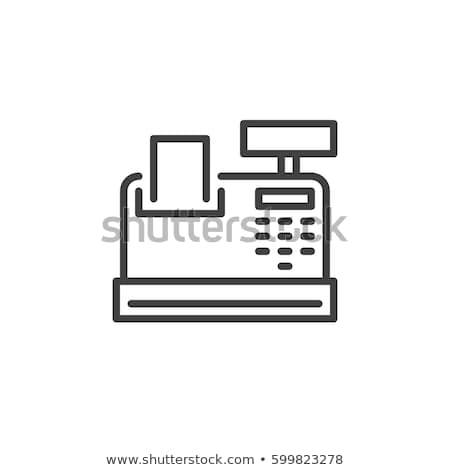 Cash machine icon in flat style Stock photo © studioworkstock