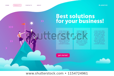 Vector business winner strategy concept template Stock photo © orson
