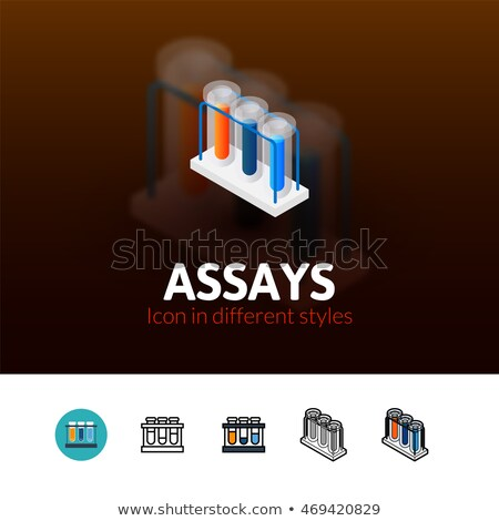 Assays isometric icon, isolated on color background Stock photo © sidmay