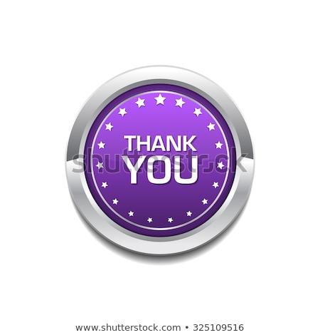 Dank u vector web element knop Stockfoto © rizwanali3d