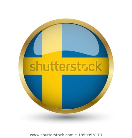 Sweden Flag vector illustration isolated on modern background with shadow. Stock photo © kyryloff