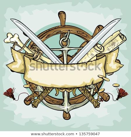 pirata · banner · illustrazione · due · pirati · vuota - foto d'archivio © bluering