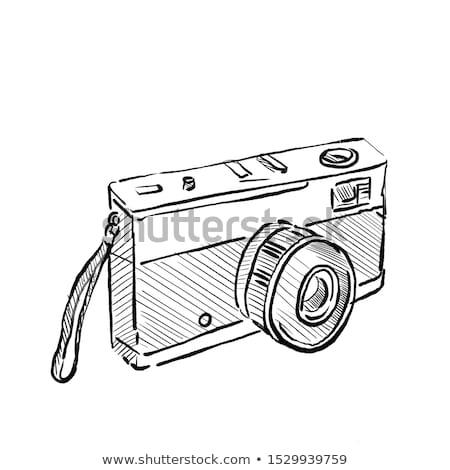 35mm film kamera çizim kroki stil Stok fotoğraf © patrimonio