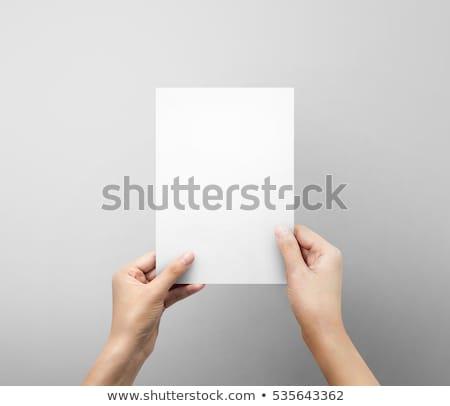 два рук чистый лист бумаги карт долго Сток-фото © Dinga