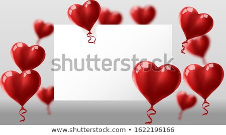 Red flying heart confetti, Valentines day background. Design element for romantic love greeting card Stock photo © olehsvetiukha