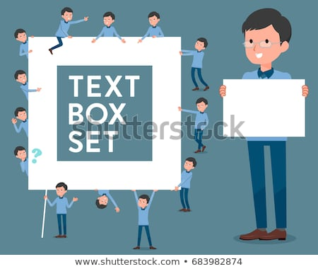 flat type Blue clothing glass dad_text box Stock photo © toyotoyo