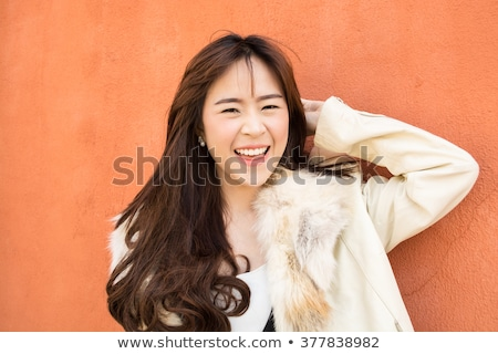 ázsiai nő divat közelkép portré kint Stock fotó © artfotodima