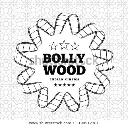 Bollywood is a traditional Indian movie. Vector illustration with film strip Stock photo © m_pavlov