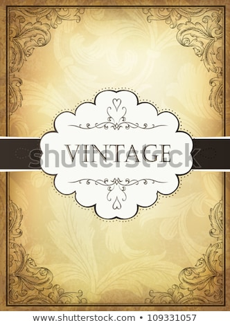 Aged Vintage Background With Floral Ornament Elements Foto stock © pashabo