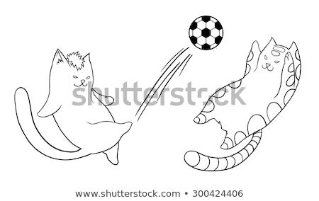Cartoon chat football coup illustration Photo stock © cthoman