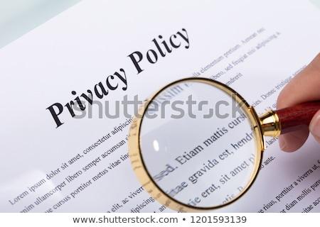 Mulher caneta privacidade forma Foto stock © AndreyPopov
