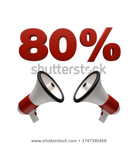 80 percent sign and megaphone 3d stock photo © djmilic