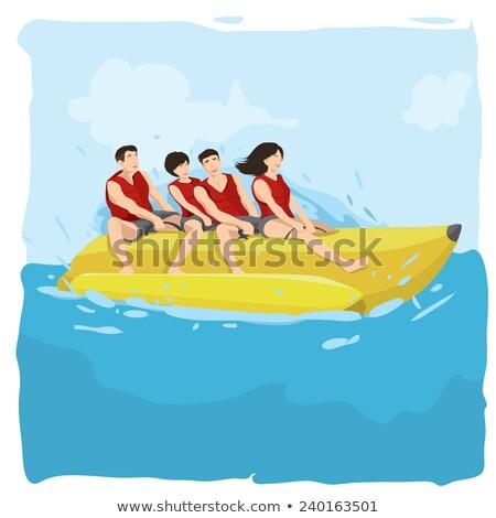Mariene banaan boten kleur geïsoleerd witte Stockfoto © robuart