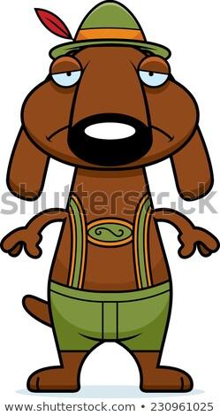 Triste Cartoon dachshund ilustración mirando Foto stock © cthoman