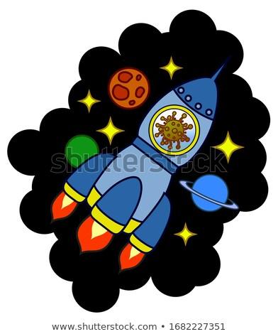 Sick Cartoon Asteroid Stock photo © cthoman