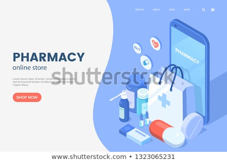 Medication and Pharmacy web posters Stock photo © robuart