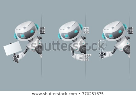 Robot Cyborg Humanoid Poster Vector Illustration Stock photo © robuart