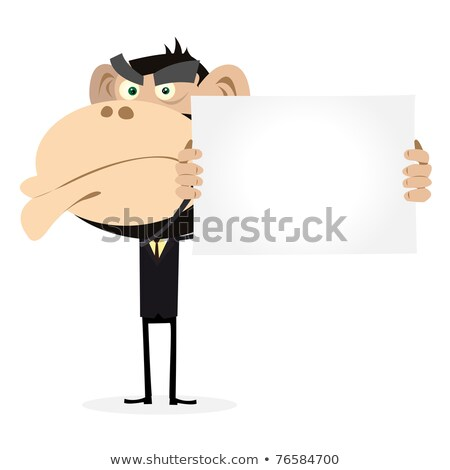 Cartoon boos chef gorilla naar kok Stockfoto © cthoman