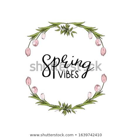 привет · весны · карт · сезон · цветочный - Сток-фото © kollibri