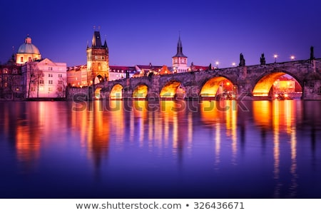 fog on charles bridge stock photo © givaga