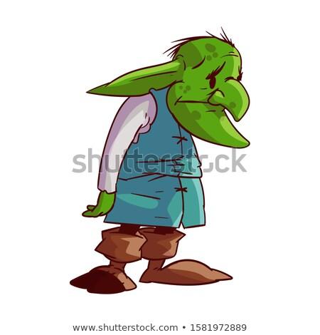 Sad Cartoon Orc Stock photo © cthoman