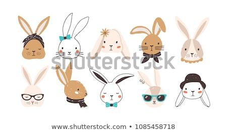Sad Cartoon Easter Bunny Stock photo © cthoman