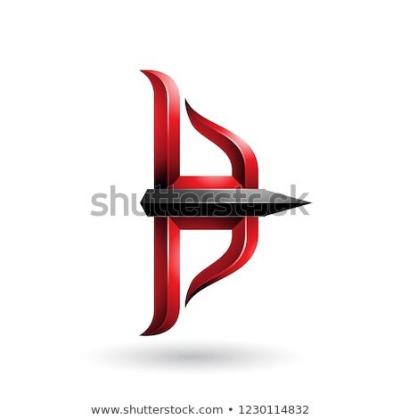 красный черный лук стрелка вектора иллюстрация Сток-фото © cidepix