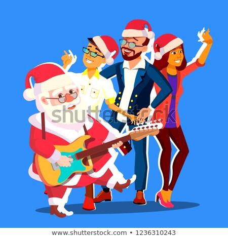 サンタクロース ダンス グループの人々  ギター 手 オフィス ストックフォト © pikepicture