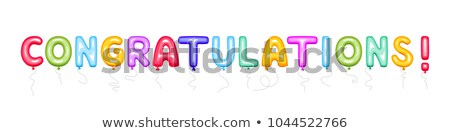 Background design with balloons and word congratulations Stock photo © colematt