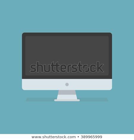 Bilgisayar monitörü bilgi bilgi vektör yalıtılmış izometrik Stok fotoğraf © robuart