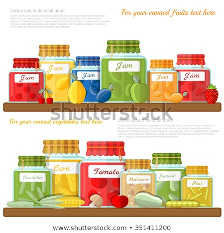 Preserved Food Cherry Plum Vector Illustration Stock photo © robuart