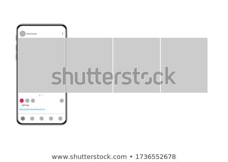 Interfejs popularny social media ikona szablony muzyki Zdjęcia stock © AisberG