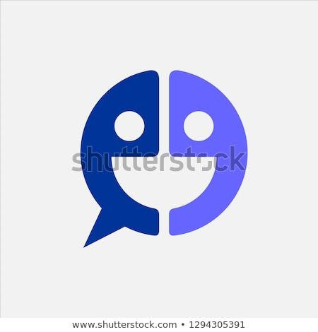 funny letter e eye face icon logo vector Stock photo © blaskorizov