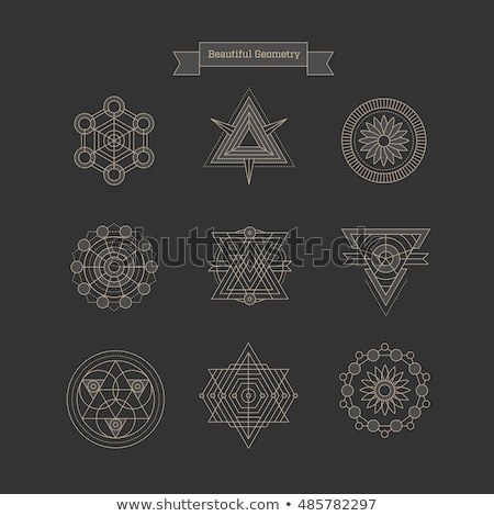 geometry math logo triangle and circle icon vector Stock photo © blaskorizov