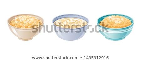 Kahvaltı gevreği süt stil bağbozumu gıda beyaz Stok fotoğraf © zoryanchik