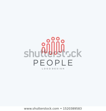 people logo icon design element vector teamwork stock photo © blaskorizov