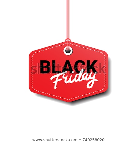 Big Sale on Black Friday Promo Tag, Gifts Icons Stock photo © robuart