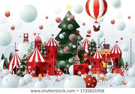 クリスマス 雪玉 ギフト 雪 背景 ストックフォト © bdspn