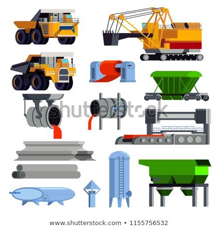 Metallurgy flat concept icon Stock photo © netkov1