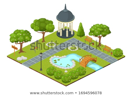 Small pool in the park Stock photo © colematt