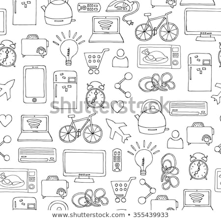 Smart microwave oven hand drawn outline doodle icon. Stock photo © RAStudio